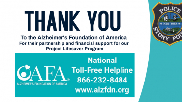 Thanks to Alzheimer's Foundation of America