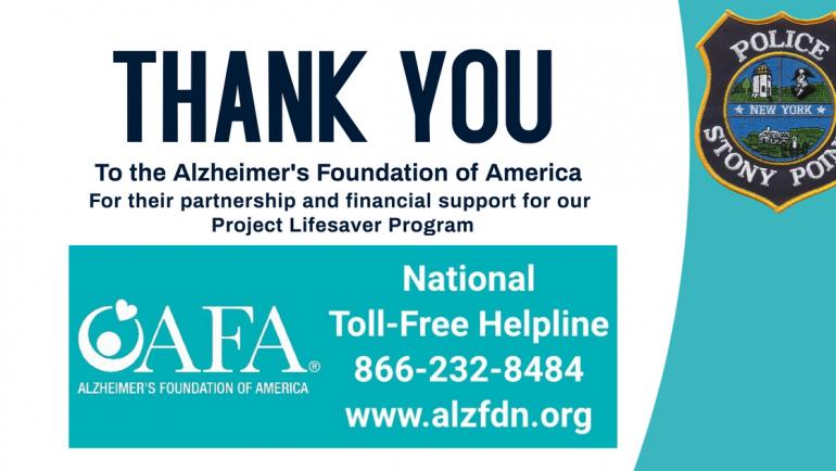 Thanks to Alzheimer's Foundation of America